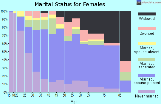Zip code 78537 marital status for females