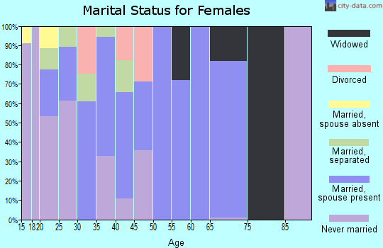 Zip code 78579 marital status for females