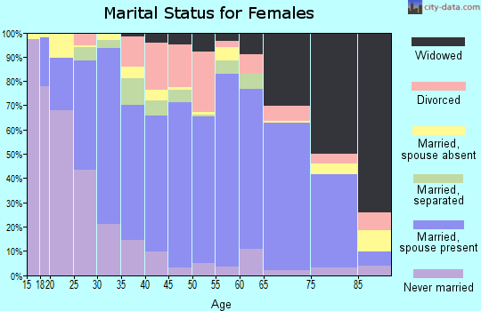 Zip code 78589 marital status for females