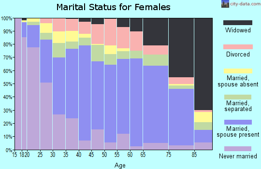 Zip code 78596 marital status for females
