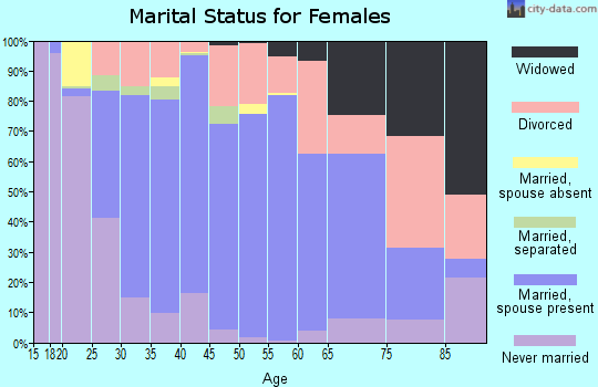 Zip code 78610 marital status for females
