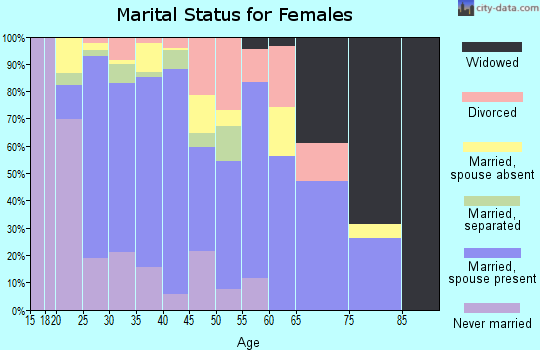 Zip code 78653 marital status for females