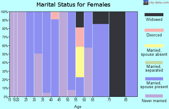 Zip code 78719 marital status for females