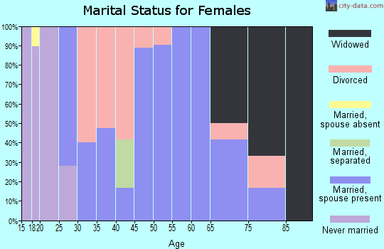Zip code 79080 marital status for females