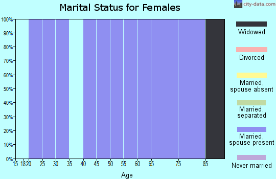 Zip code 79518 marital status for females