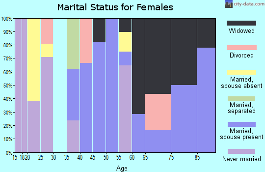 Zip code 79851 marital status for females