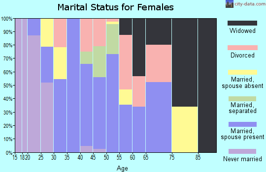 Zip code 79855 marital status for females