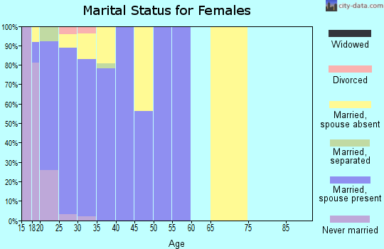 Zip code 79906 marital status for females