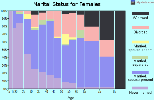 Zip code 80234 marital status for females
