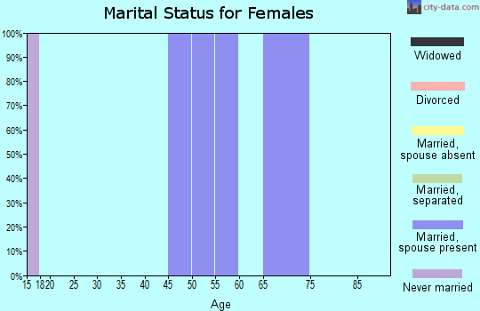 Zip code 80448 marital status for females