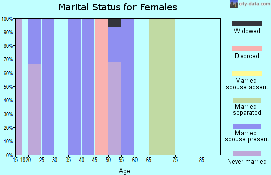 Zip code 80520 marital status for females