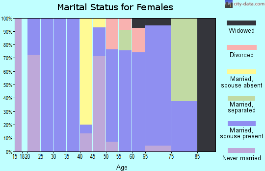 Zip code 81091 marital status for females
