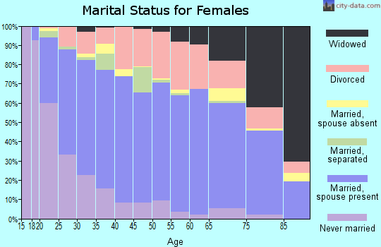 Zip code 83201 marital status for females