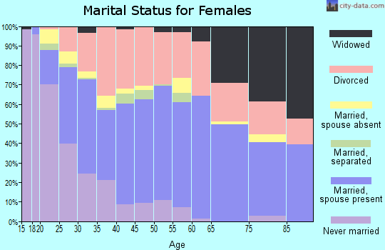 Zip code 83204 marital status for females