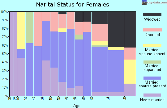 Zip code 83213 marital status for females