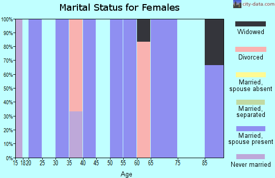 Zip code 83223 marital status for females