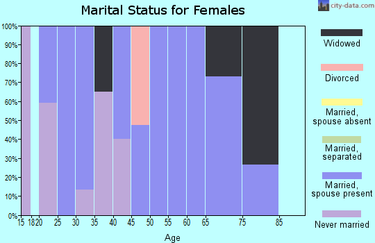 Zip code 83262 marital status for females