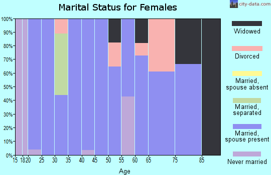 Zip code 83320 marital status for females