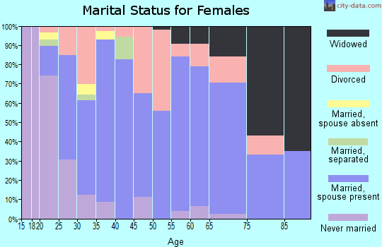Zip code 83328 marital status for females