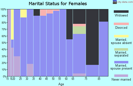 Zip code 83335 marital status for females