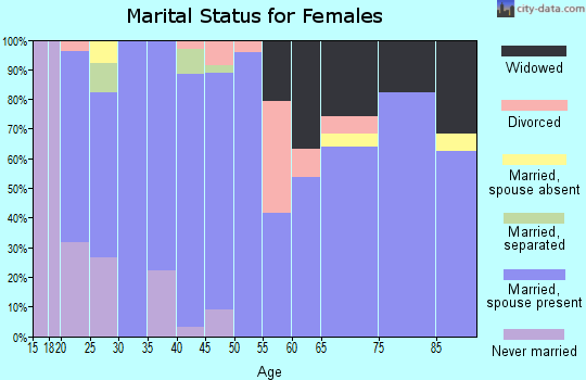 Zip code 83355 marital status for females