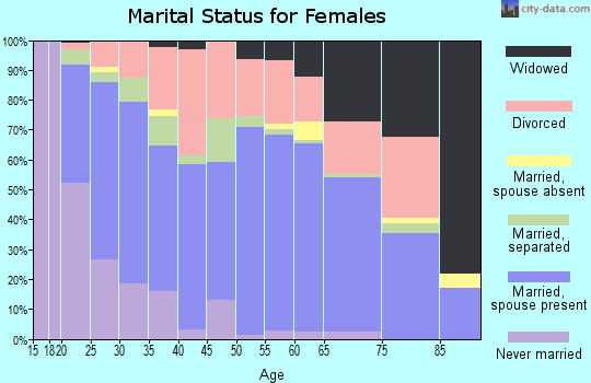 Zip code 83402 marital status for females