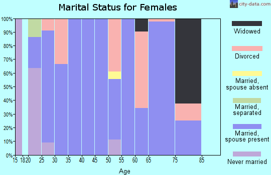 Zip code 83431 marital status for females