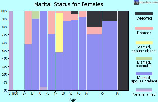 Zip code 83553 marital status for females
