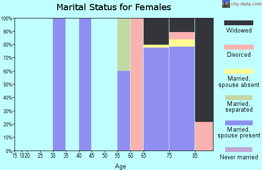 Zip code 83867 marital status for females