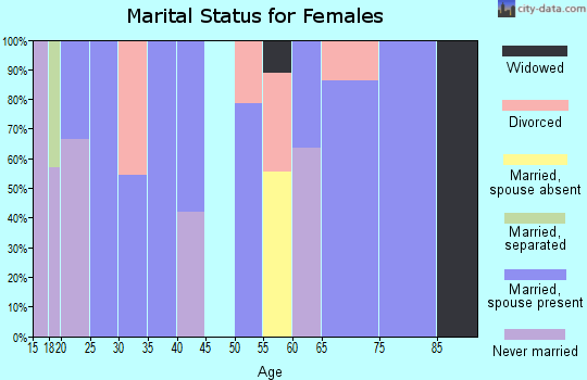 Zip code 84028 marital status for females