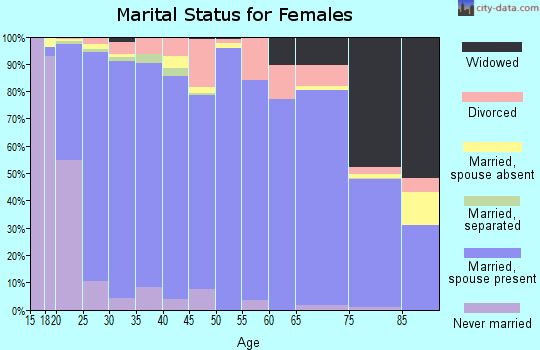 Zip code 84043 marital status for females