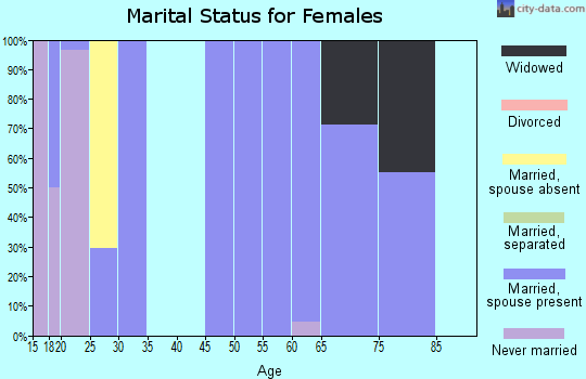 Zip code 84046 marital status for females