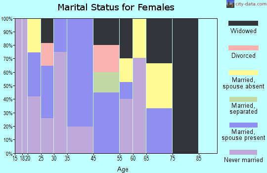 Zip code 84510 marital status for females