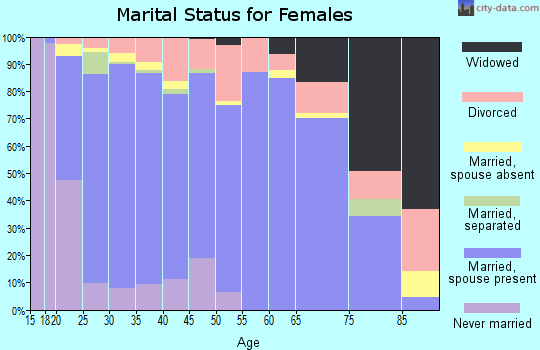 Zip code 84651 marital status for females