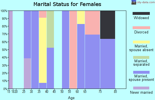 Zip code 84722 marital status for females