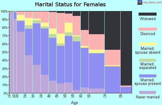 Zip code 85033 marital status for females