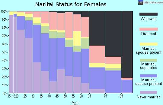 Zip code 85040 marital status for females