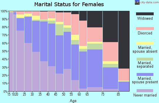 Zip code 85041 marital status for females