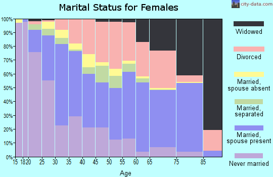 Zip code 85051 marital status for females