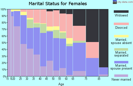Zip code 85210 marital status for females