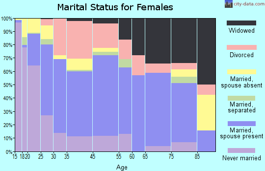 Zip code 85228 marital status for females