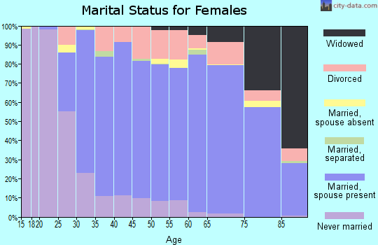 Zip code 85255 marital status for females