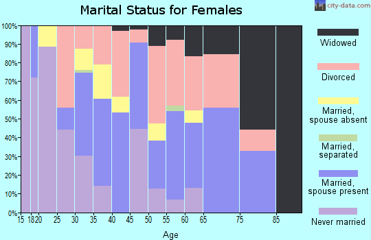 Zip code 85256 marital status for females