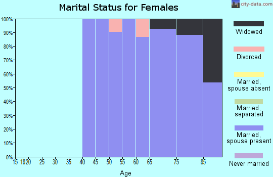 Zip code 85263 marital status for females