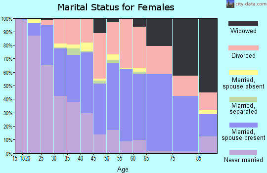 Zip code 85282 marital status for females