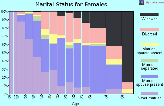 Zip code 85283 marital status for females