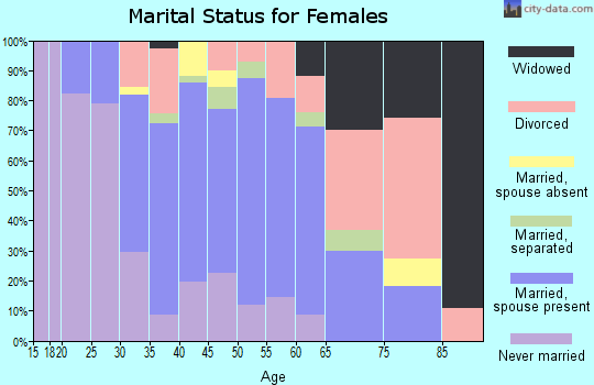 Zip code 85305 marital status for females