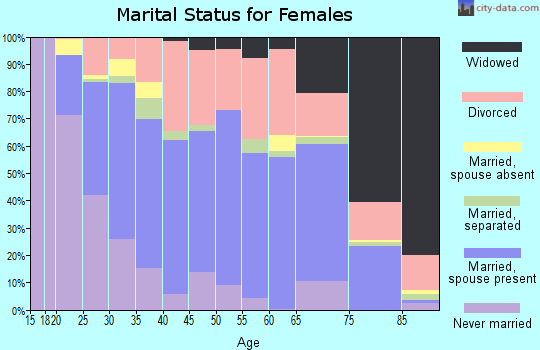 Zip code 85306 marital status for females