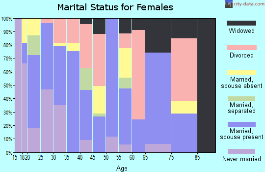 Zip code 85307 marital status for females