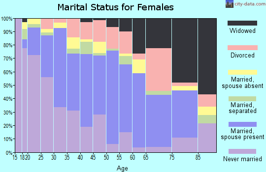Zip code 85323 marital status for females